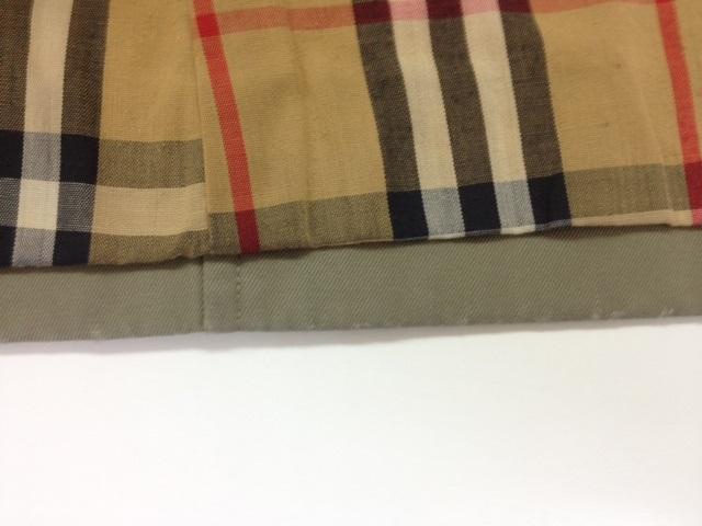 バーバリーコートの裾の擦り切れ修理before