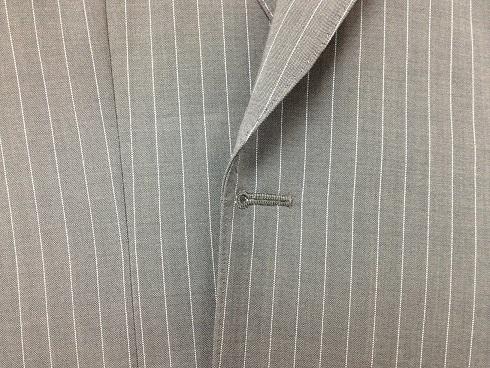 スーツ(ジャケット)の前身頃の端のスリキレ直しafter
