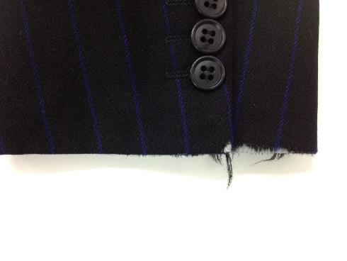 袖口の擦り切れ修理(ジャケット)before