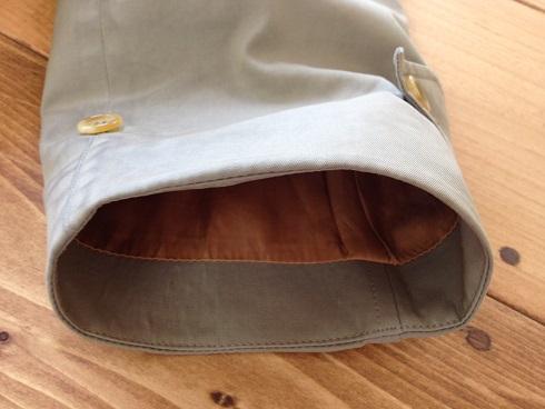 バーバリーコートの袖口の擦り切れ直しafter