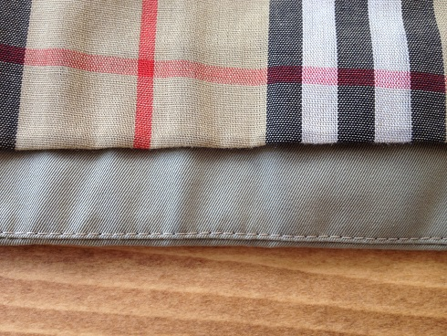 バーバリーコート裾の擦り切れ直しafter