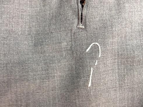 スーツのズボンの破れ修理after