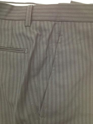 スーツのズボン脇(前)ポケットの擦り切れ修理after