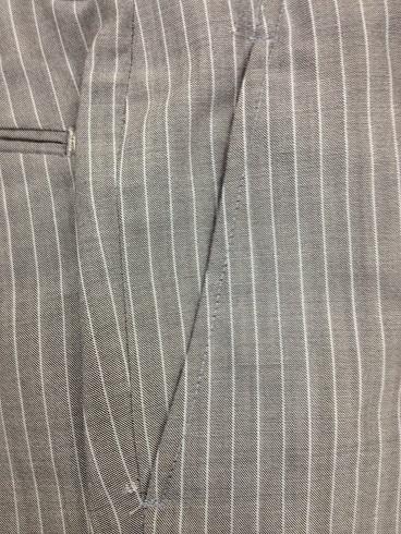 スーツのパンツの脇ポケット口の修理after