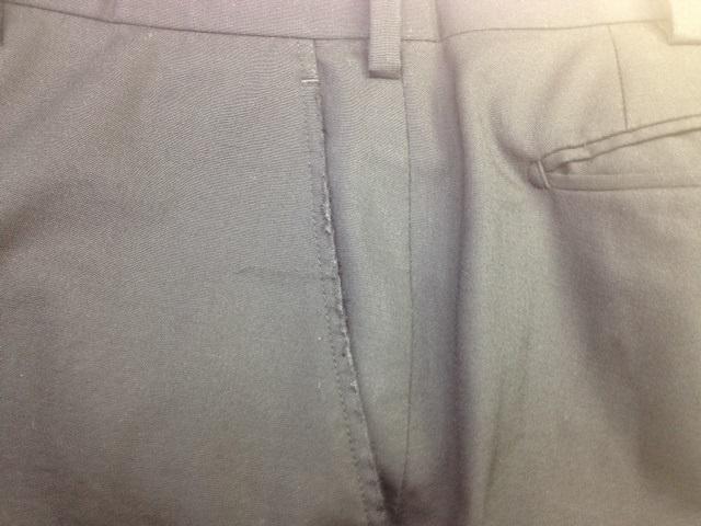 ズボンのポケット修理before