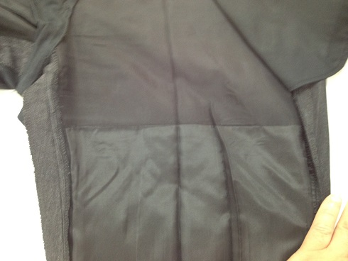 スーツパンツの裏地の破れ修理after