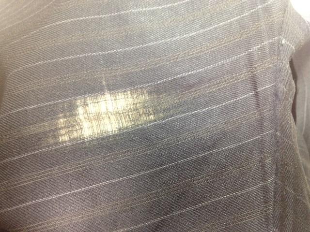 スーツのズボンの股の補修before