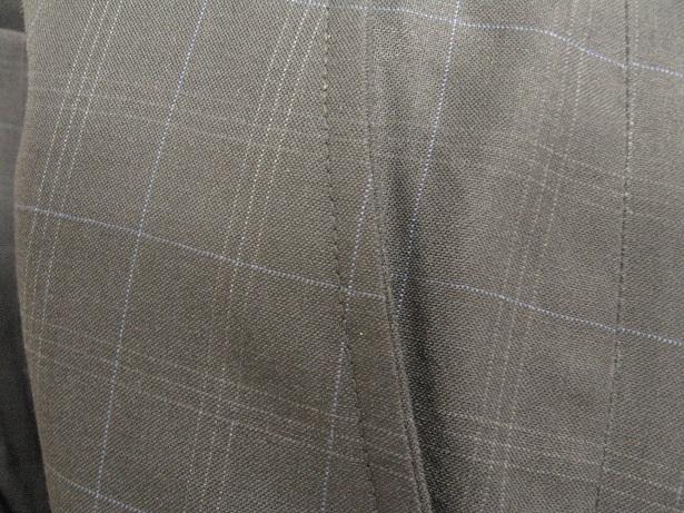 スーツ(パンツ)の脇(前)ポケットのスリキレ直しafter
