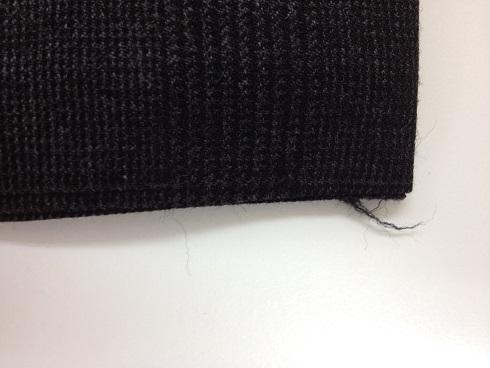 ズボンの裾の擦り切れ修理before