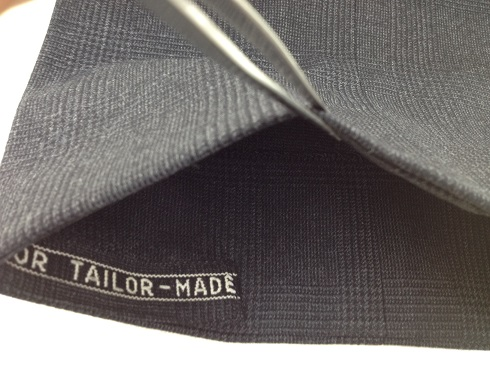 ズボンの裾の擦り切れ修理after