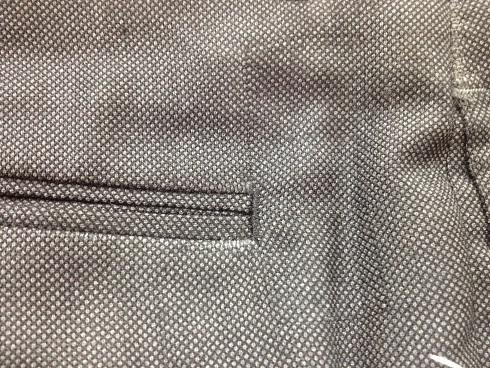 スラックスのバックポケットの端の修理after