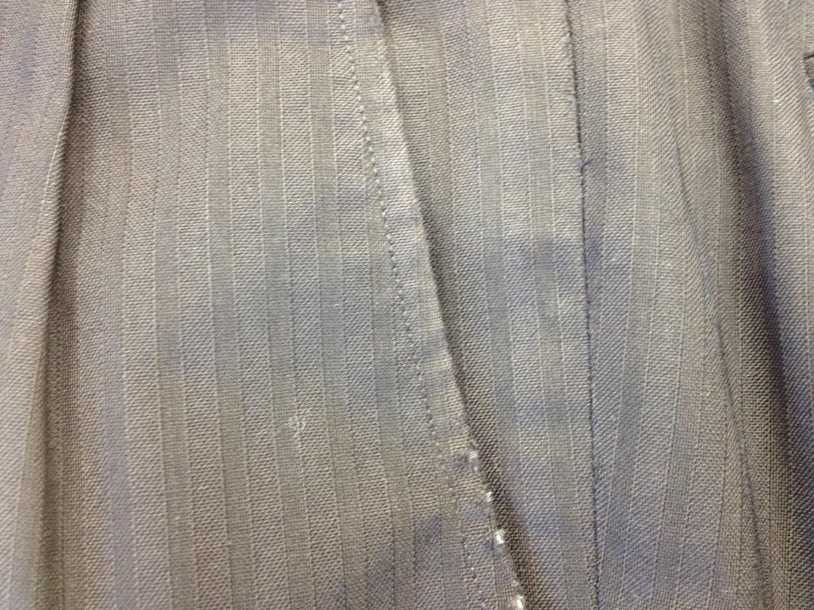 スーツ脇(前)ポケットの擦れ直しbefore