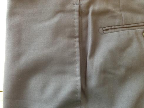 パンツの脇(前)ポケットの破れ直しafter