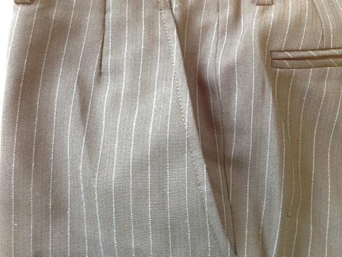 スラックスの脇ポケットの擦り切れ修理です。after