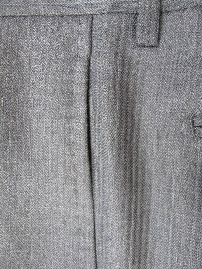 スーツ(パンツ)脇ポケット口の擦り切れ修理after