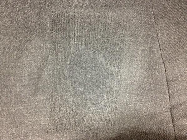 スーツの穴を予算を抑えて補修するafter