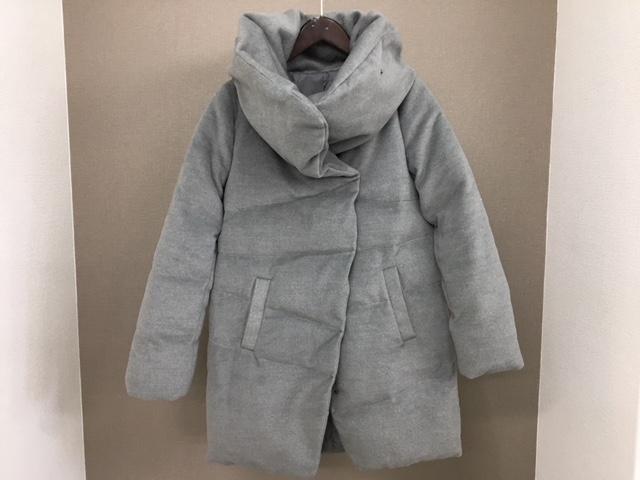 ダウンコートの着丈つめbefore