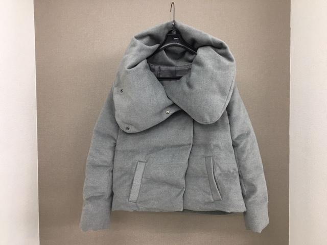 ダウンコートの着丈つめafter